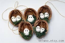 owl ornaments owl ornament set rustic christmas decorations animal