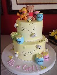 winnie the pooh baby shower cake custom 2 tiered winnie the pooh cake for baby shower yelp