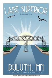 Minnesota How To Travel For Free images Vintage duluth mn 12 quot x18 quot travel poster free shipping on etsy jpg