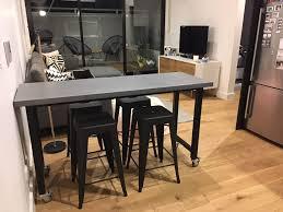 bespoke concrete island bench lumber furniture