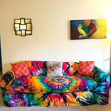 tie dye home decor tie dye couch slipcover hippie room tie dye home decor