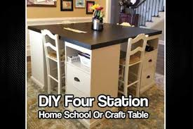 build a craft table diy four station home or craft table shtf prepping