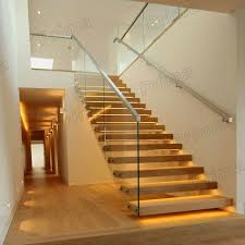 Fitting Banisters Hidden Stringer Tempered Glass Patch Fitting Railing Wood Steps