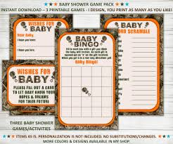 camo baby shower games wishes for baby bingo word scramble