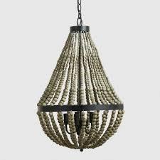 bead chandelier small wood bead chandelier world market