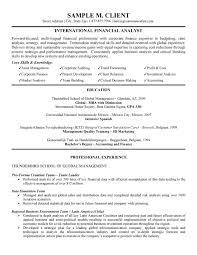 financial analyst resumes international financial analyst resume skills finance analyst resume