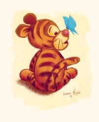 images of tigger from winnie the pooh winnie the pooh baby tigger print the of leanne huynh