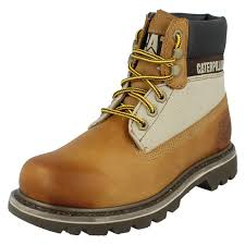 ankle boots uk ebay caterpillar unisex mens lace up leather colorado casual