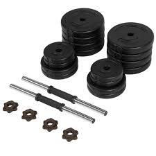 best choice products 64lb weight dumbbell set adjustable cap gym