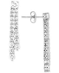 drop diamond earrings diamond drop earrings shop diamond drop earrings macy s