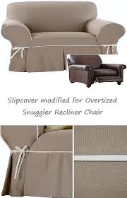 snuggler chair slipcover contrast taupe linen wide cuddler