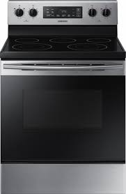 Samsung Cooktops Electric Samsung 5 9 Cu Ft Freestanding Electric Range Silver Ne59m4310ss