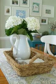 Centerpieces For Dining Room Tables Simple Dining Table Centerpiece With Salt Pepper Cloth Napkins