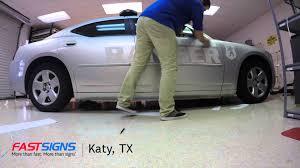 lexus katy tx reflective vehicle graphics installation fastsigns katy tx