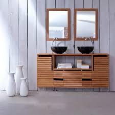 badezimmer unterschrank hängend hängbare teak möbel slats duo schrankmöbel unter dem waschbecken