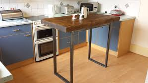 Kitchen With Bar Table - rustic breakfast bar table kitchen island industrial chic