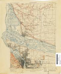 Map Of Portland Oregon Topographic Map Oregon Map Oregon 124000 Topographic Map