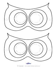 image print printable owl templates free template animal