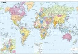 world map by cities buy world and usa maps