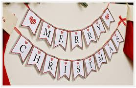merry christmas banner paper and party free printable merry christmas banner