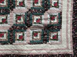 Cottage Quilts And Fabrics by Flower Patch Log Cabin Quilt For Country Or Cottage Home The