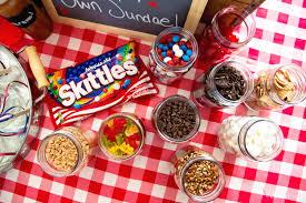 sundae bar toppings diy sundae ice cream bar party julie s eats treats