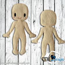 free ith felt doll body embroidery design free embroidery