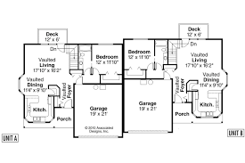one story duplex house plans duplex house plans with garage luxihome