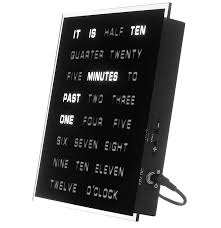 Weird Wall Clocks by Amazon Com Led Word Clock Displays Time As Text Home U0026 Kitchen