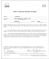 Notice To Vacate Apartment Letter 60 Day Notice The Other Shoe