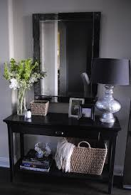 entry table decor ideas perfect baskets to toss mail magazines etc