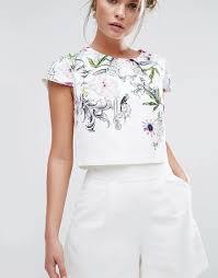 white romper jumpsuit ted baker white reechi flower playsuit romper