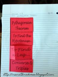 Pythagorean Theorem Triples Worksheet Middle Math Madness Pythagorean Theorem Foldable