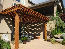 Outdoor Pergola Kits by Attached 14 U0027 X 20 U0027 Timber Frame Pergola Kit For Shade Western