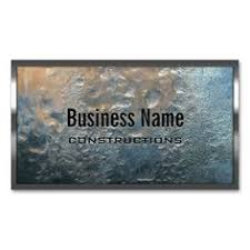 Construction Name Card Design Bold Stenciled Particle Board Construction Business Card Cards