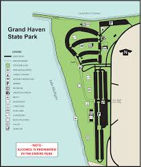 Island Beach State Park Map by Grand Haven State Parkmaps U0026 Area Guide Shoreline Visitors Guide