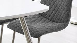 Esszimmer Sessel Grau Set Schwingstuhl Osaka Stuhl In Stoff Grau Und Edelstahlgestell