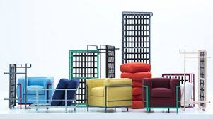 Esszimmerst Le Yellow Lc2 Sessel Gestell Lackiert Cassina Einrichten Design De