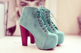 Light Blue High Heels Shoes Style Amazing Fashion Blue Soft Heel High Heels Lace
