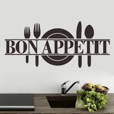 compare prices on kitchen wall decor decal online shopping buy bon appetit