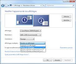 afficher sur le bureau affichage multi écrans windows 7 aidewindows