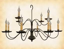 Colonial Chandelier Handcrafted Primitive Lighting U2013 Tagged