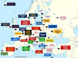 Synonym For Map The Best Universities In Europe By Every Country Infographic