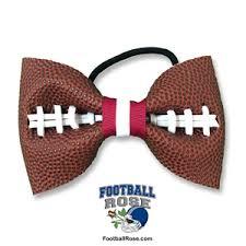 football ribbon basic football hair bow maroon white