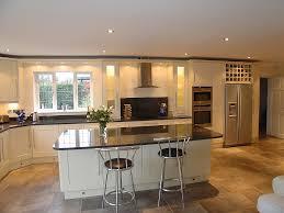 shaker style kitchen in cream painted solid wood doors granite
