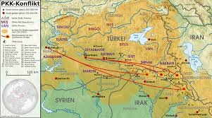 Syria Turkey Map by Kurdish U2013turkish Conflict 1978 U2013present Wikipedia