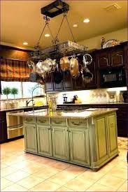 kitchen island with pot rack pot racks kitchen storage organization the home depot kitchen pan