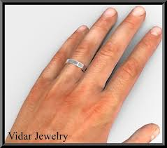 plain gold wedding bands mens plain white gold wedding band vidar jewelry unique custom