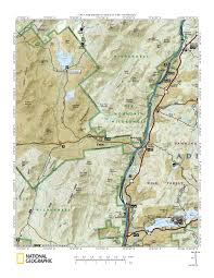 National Geographic Topo Maps Blue Ridge Falls Campsites Topographic Map Centered On Campground