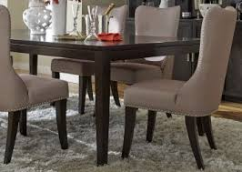 saber legs dining table with solids poplar wood and satin espresso